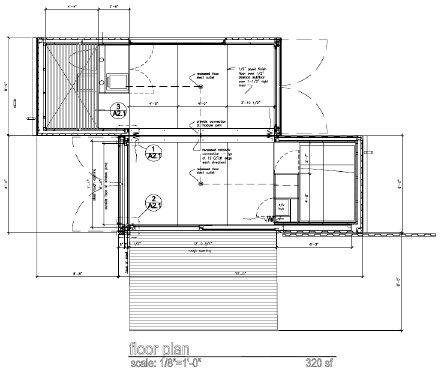 Studio 320 Floorplan 2 Container Off Grid Home Budget