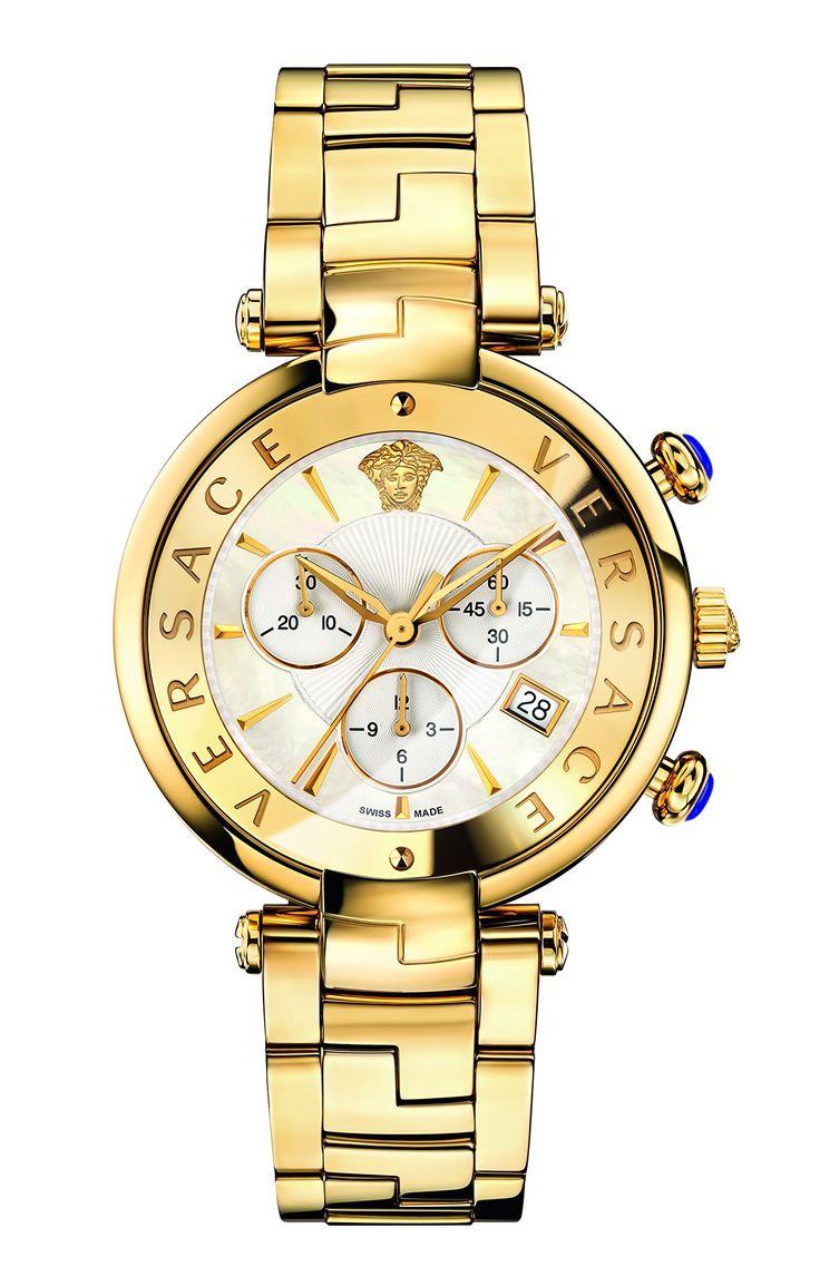 Versace Women's 'REVE' Swiss Quartz Stainless Steel Casual Watch, Color:Gold-Toned (Model: VAJ060016)