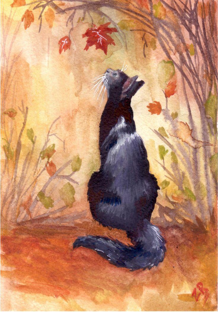 Autumn cat by zarielcharoitite on deviantART