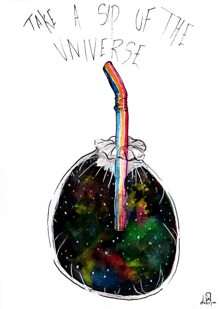 cup w/ universe in it. Learn how to paint or color galaxy