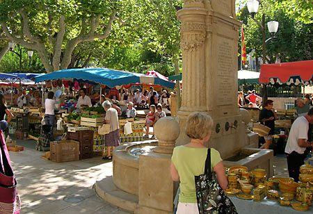 Le marché de Cassis, France