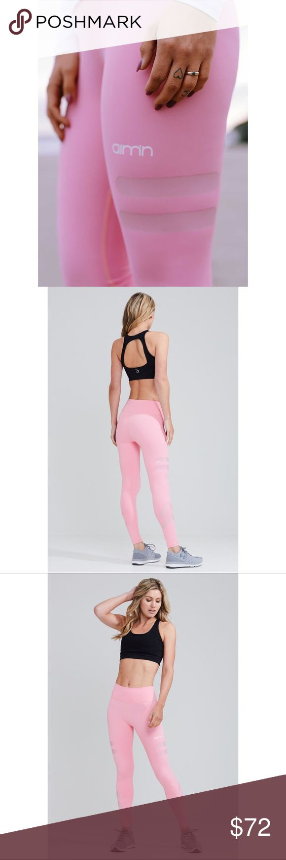 ✨⏩ AIM*N Dusty Pink Tribe Tights/Leggings, S/M ☑️ 👐🏼🔥💓 HOT ITEM! ✨ Gorgeous, luxe leggings by AU activewear brand, AIM'N. Flattering high-waist design &signature contour fit that accentuates the best of your natural features! Sport stripe accents on mid-thigh. Smooth, second-skin feel fabric in a vibrant, soft bubblegum pink. Brand NEW condition without tags, in org. packaging. Worn once for errands (pink is not my color). Tag Sz. M (Fits S/M within 3-6). *Brand is Aim'n, not lululemon…