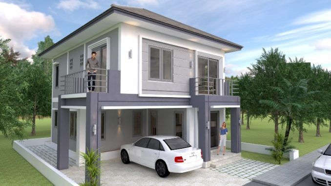 Four Bedroom Classic Two Storey Concept Cool House Concepts 2 Storey House Design Home Design Plan Simple House Design