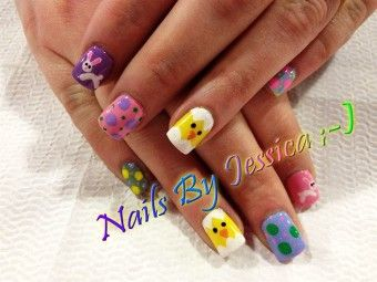 3-d 2015 easter - Hand-Painted, 2015 easter nails Art, 2015 easter Nail Design - LoveItSoMuch.com