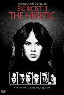 The Exorcist II: The Heretic (1977), Warner Bros. Pictures, with Linda Blair (Regan MacNeil) and Richard Burton (Father Philip Lamont). Boooo! This one shouldn't have happened.