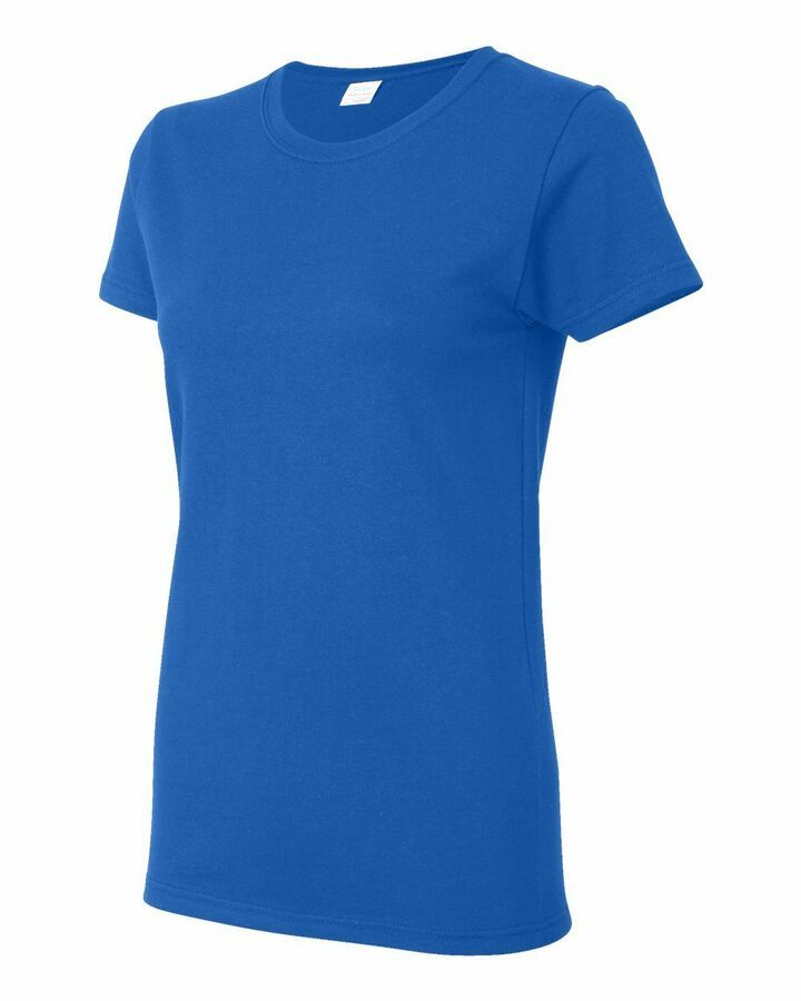 Gildan Heavy Cotton or Blend Womens Short Sleeve Blank T Shirt 5000L upto 3XL
