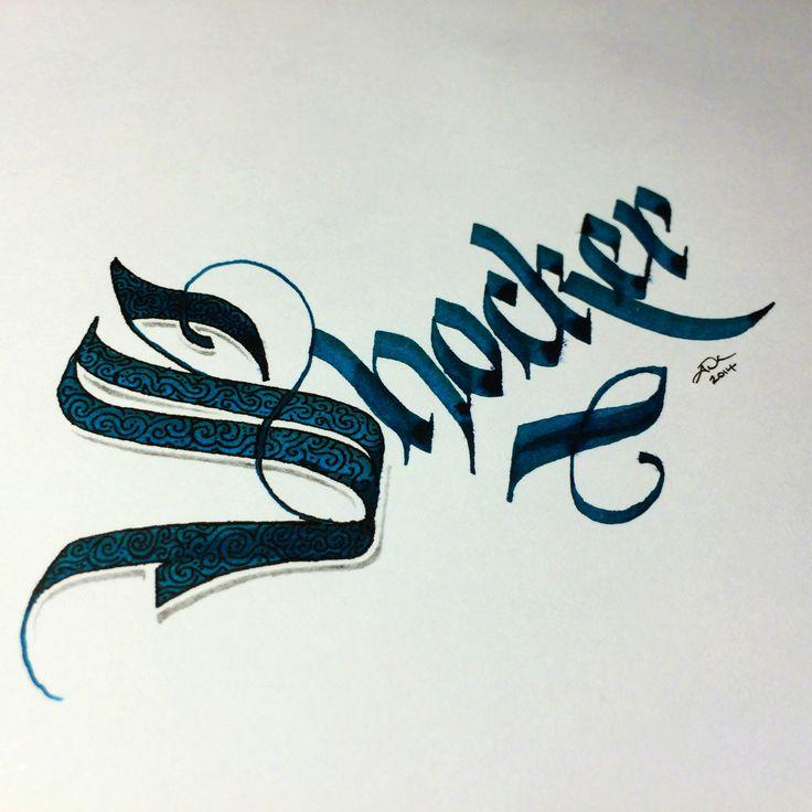 Shocker #calligraphy #parallelpen #blackletter