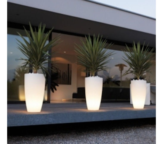 soft lighted planters