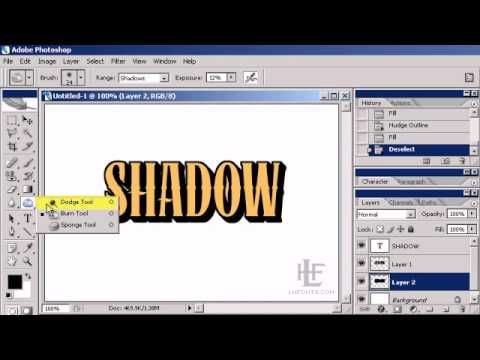 Creating 3D Block Shadows in Adobe Photoshop - video tutorial