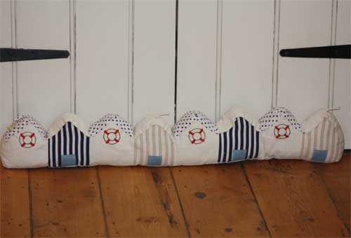 Beach hut draught excluder.