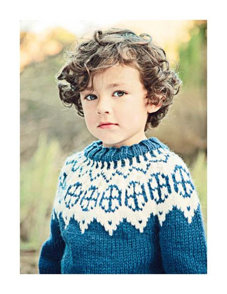 little boy with curly hair