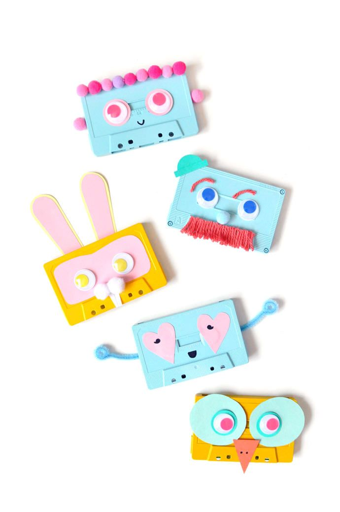 DIY Recycled Cassette Faces