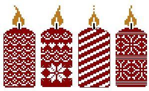 Bougies de Noël - 21 x 55 points                                                                                                                                                                                 Plus