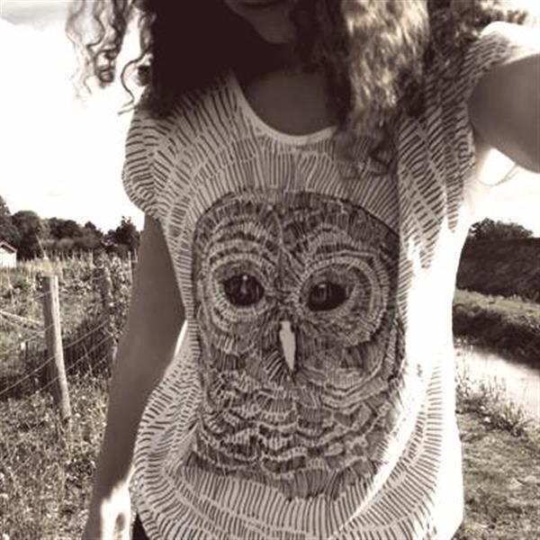 Owl prints by Janine de Bart
