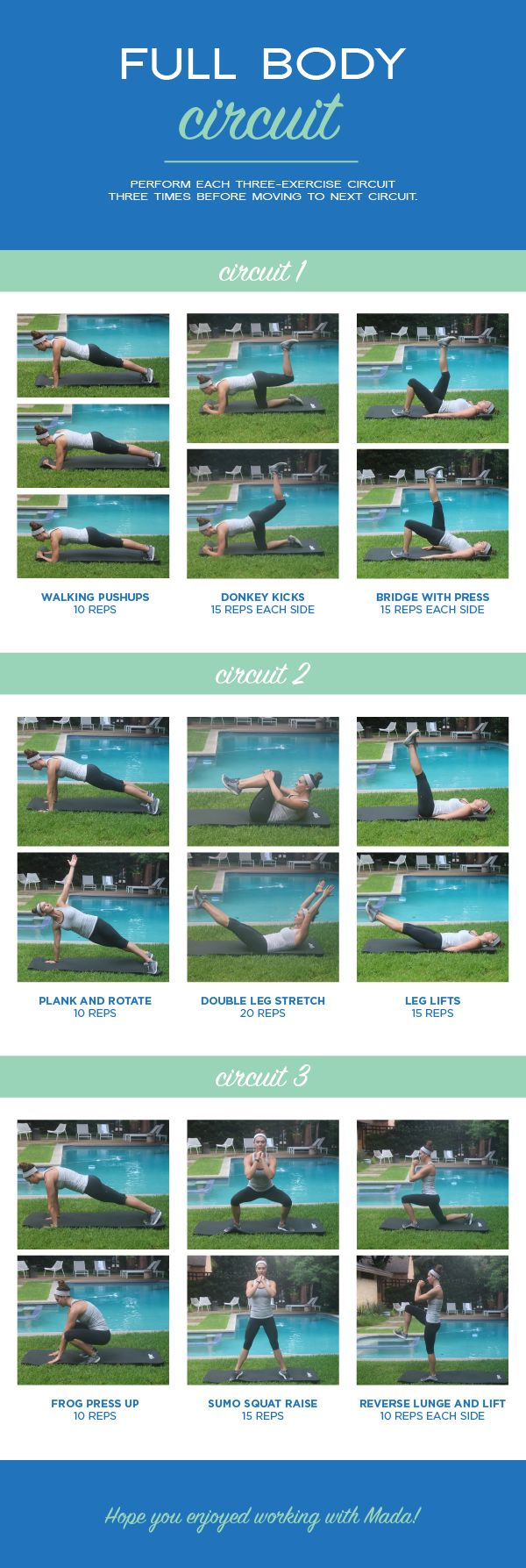 Summer Full Body Circuit Workout   The Defined Dish