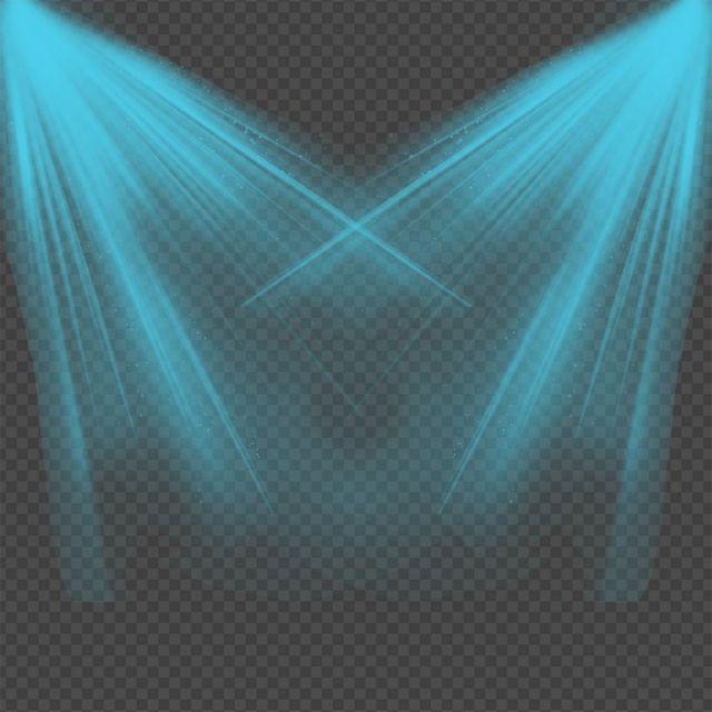Creative Blue Light Splatter Light Spotlight Lights Png