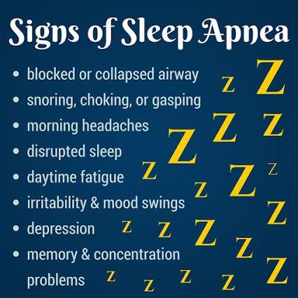 Signs of Sleep Apnea http://www.oralfacial.com