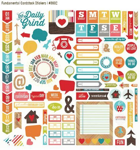 Simple stories - Daily Grind - Fundamental Cardstock Stickers