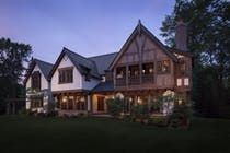 Our goal with this new home was to emulate a familiar English country home  Tudor  Architectural Details  Cottage  Rear Facade  Grounds by Wade Weissmann Architecture Inc