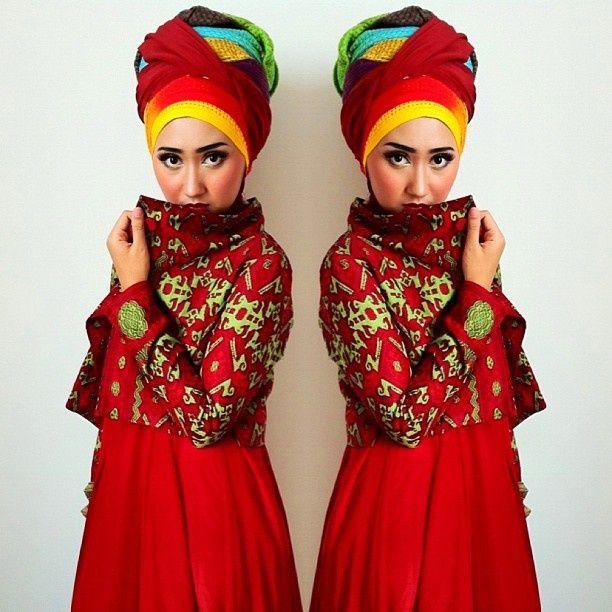 Happy #BatikDay! Wearing Dian Pelangi's batik tenun ...