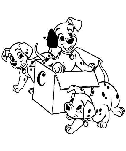 101 dalmatians coloring pages for kids at the party