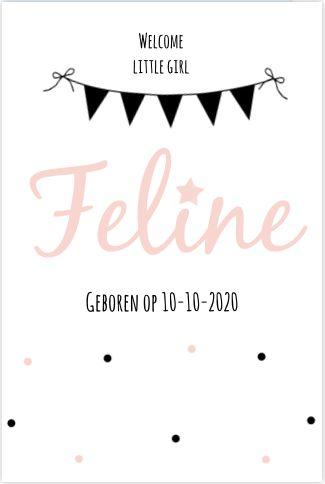 Feestelijk maar hip & stijlvol? Dit schattige geboortekaartje van Babyjewels heeft het allemaal. Lief met confetti.   #vlaggenlijn #typografie