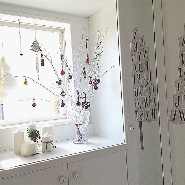 asamiさんの、キャンドル,コベントガーデン,枝ツリー,ハニカムオーナメント,アルファベットカード,クリスマス,玄関/入り口,のお部屋写真