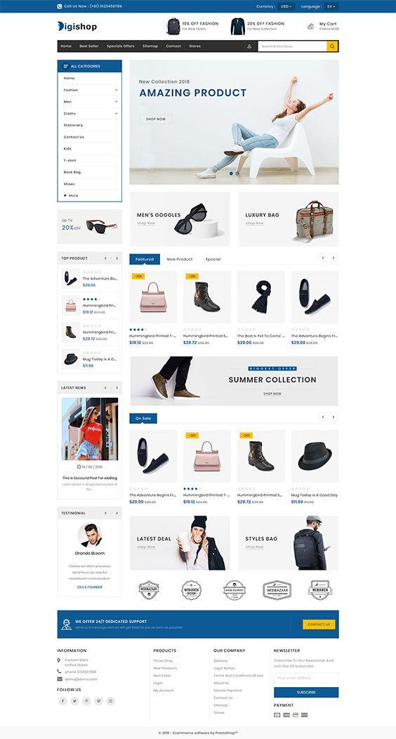 quicklinks ecommerce themes templates minimalist web design