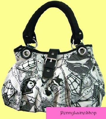 Brand New Nightmare Before Christmas Handbag Purse Bag Jack Skellington Buckle