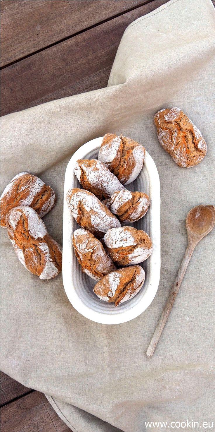 Perfekte Frühstücksbrötchen ohne Stress - mit Quellstück, Olivenöl und Übernachtgare