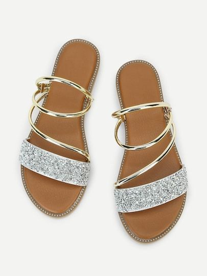 d979abdac1 Metallic Convertible Strap Sandals in 2019 | Women's Shoes, Boots, Sandals  & Heels | Strap sandals, Sandals, Shoes