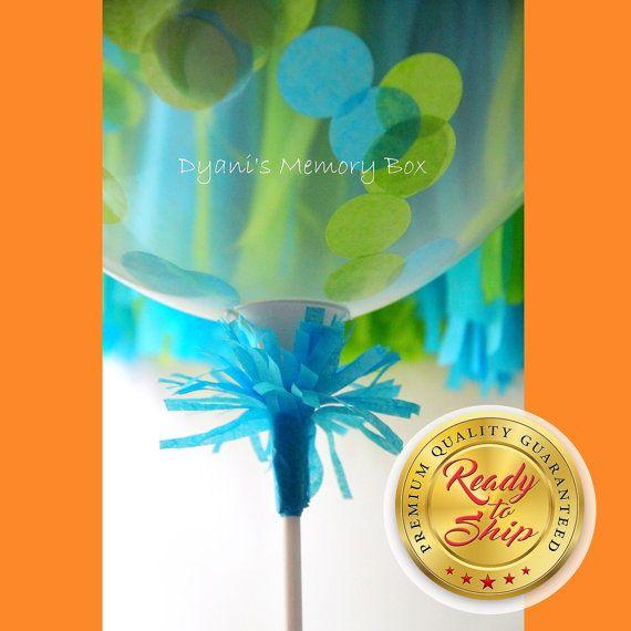 Stick and Cup Balloon Holder // Balloon Centerpiece // Balloon