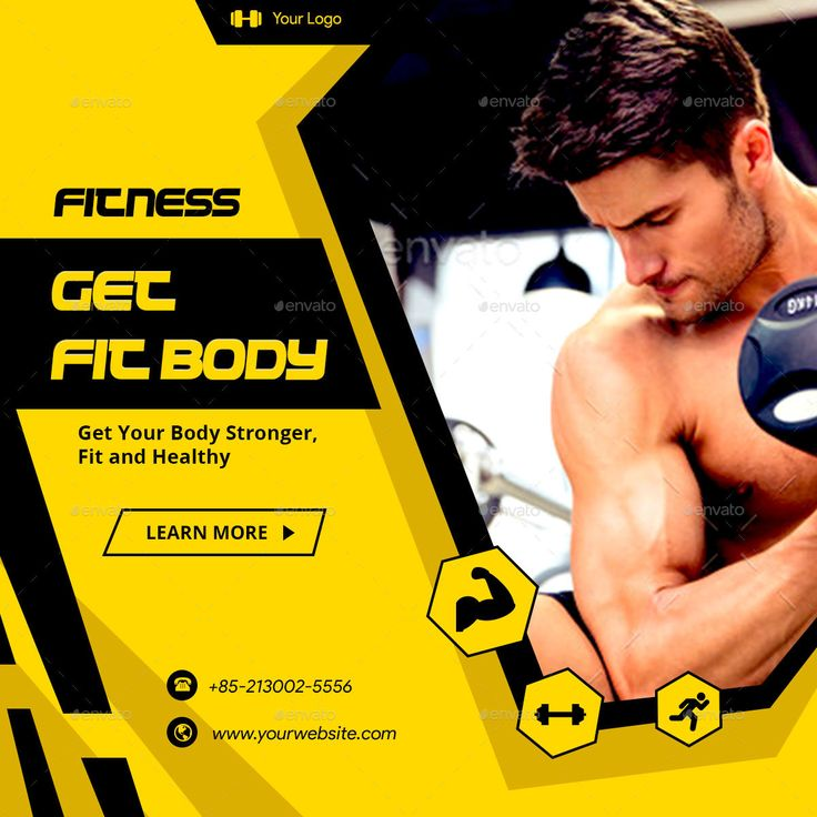 Fitness And Gym Facebook Ad Banners Ar Banner Ads Fb Ads Facebook Ad