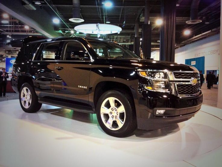 """2015 Black Chevrolet Tahoe, wonder if I could talk Jesse into one as his """"winter"""" vehicle. Then I could steal it too hahaha"""