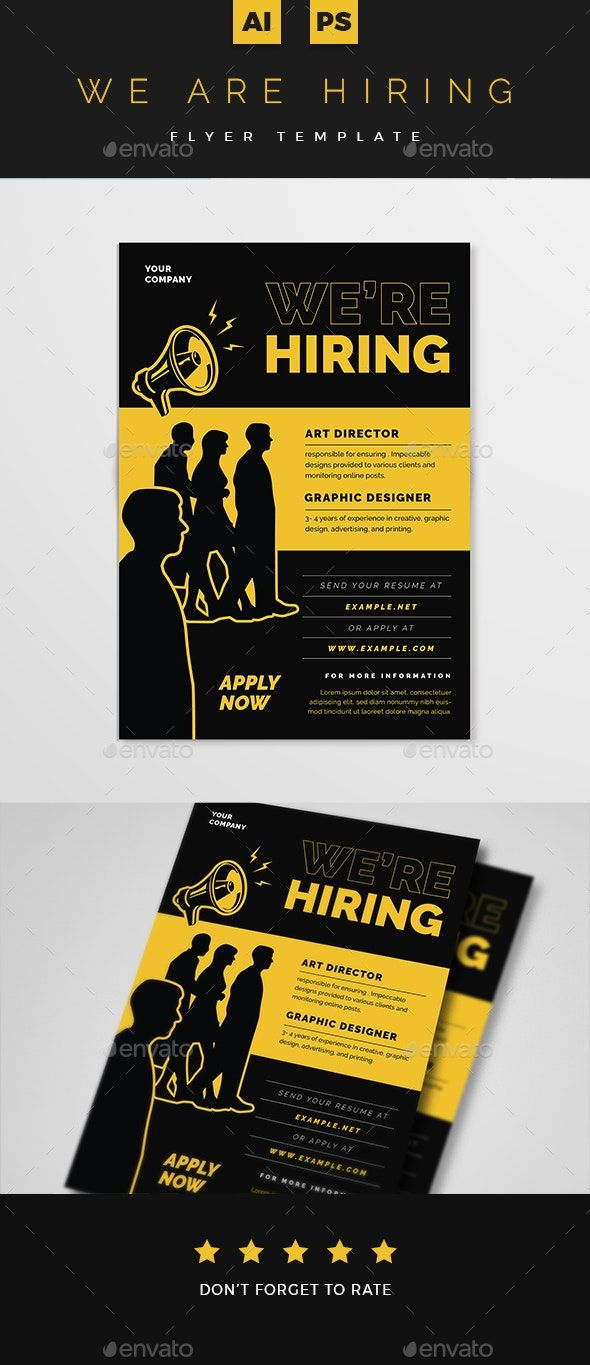 Pin On Brochure Design Templates Now hiring flyer template free
