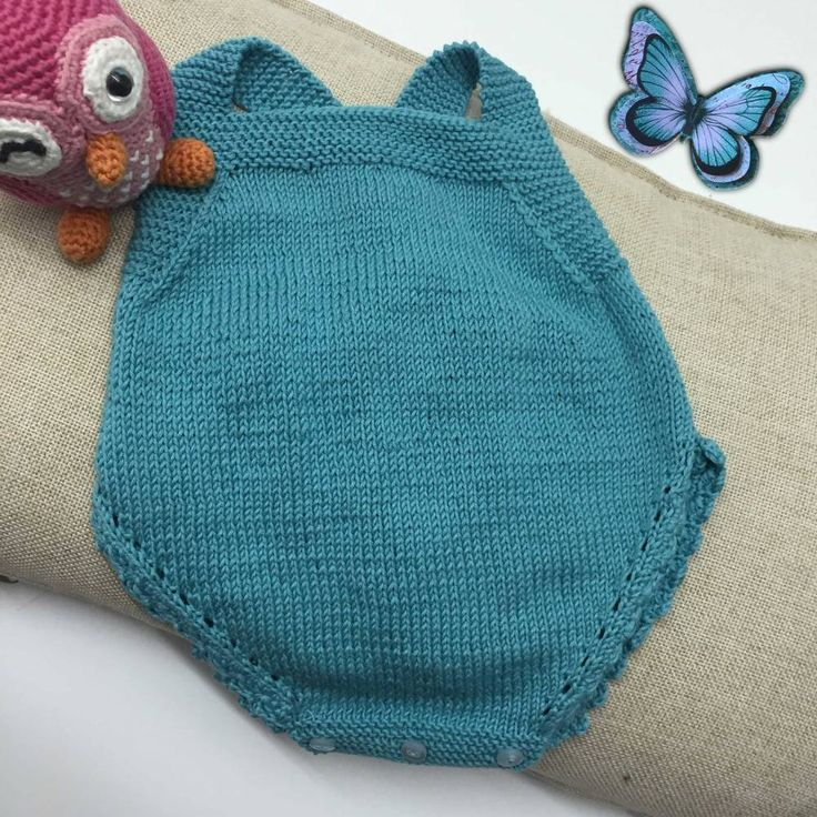 DIY clothing from baby with two needles, pattern of bib overalls. - Molan Mis Calcetas