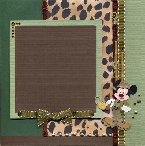 Wild Kingdom Right Page - Scrapbook.com