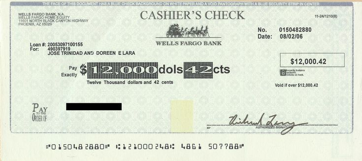 Cashiers check can be used to guarantee that money won't bounce. It is guaranteed by the bank.