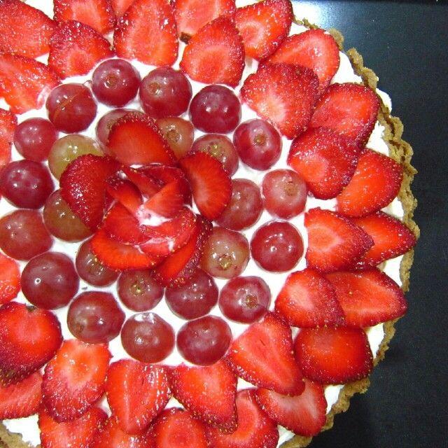 Strawberry and Red Globe Grape Tart by Bread Choice Bakery (Instagram @breadchoicebakery)