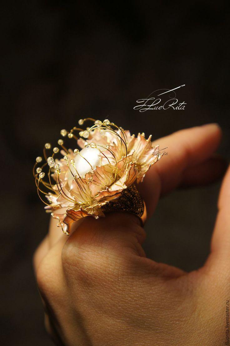 Купить Украшения на выпускной, ювелирные серьги кольцо, крупные - Гвоздика - коллекционное, стекло, подарок, свадьба