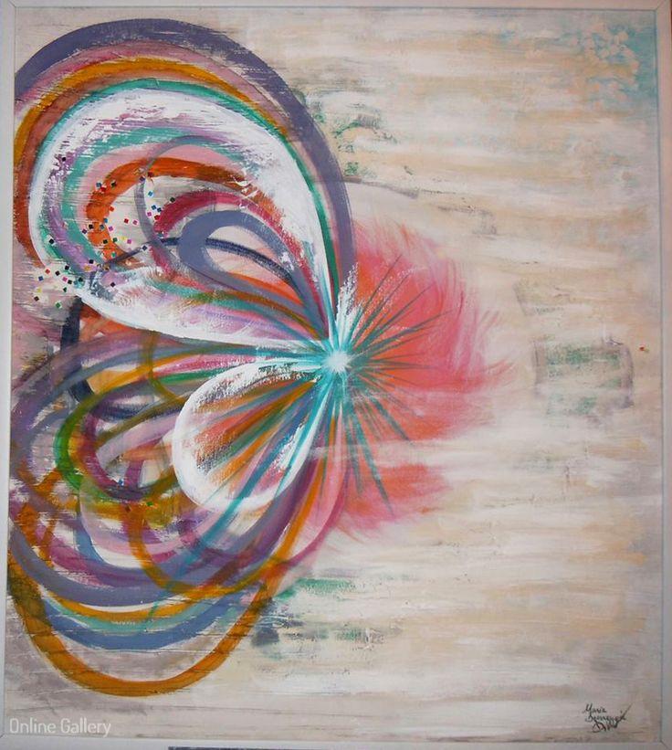 The Calling – pictura pe panza #art #painting Maria Dermengiu