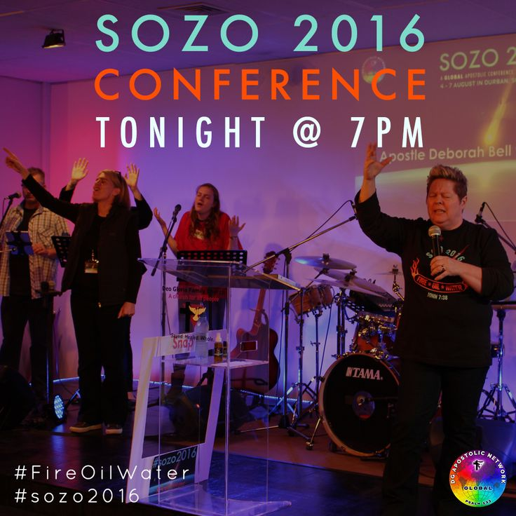 SOZO 2016 continues this evening for our Friday night session at 7pm! Apostle Deborah Bell, your conference host, invites you to experience a FRESH encounter with our supernatural GOD. Not in Durban? Join us ONLINE at www.deogloria.org/live #sozo2016 #FireOilWater #lgbt #gaychurch #gaychristian #allpeople #durban