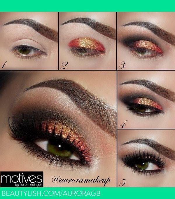 Pictorial - Copper & Gold For Green Eyes | Maquillateconaurora G.'s (AuroraGB) Photo | Beautylish