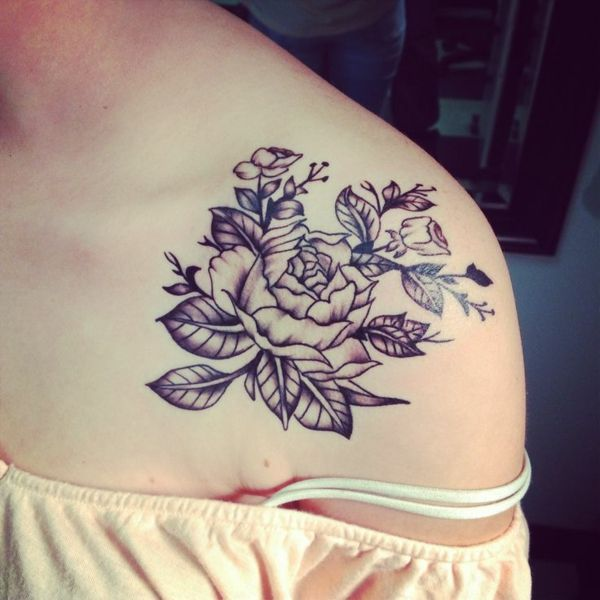 D Flower Tattoo Designs