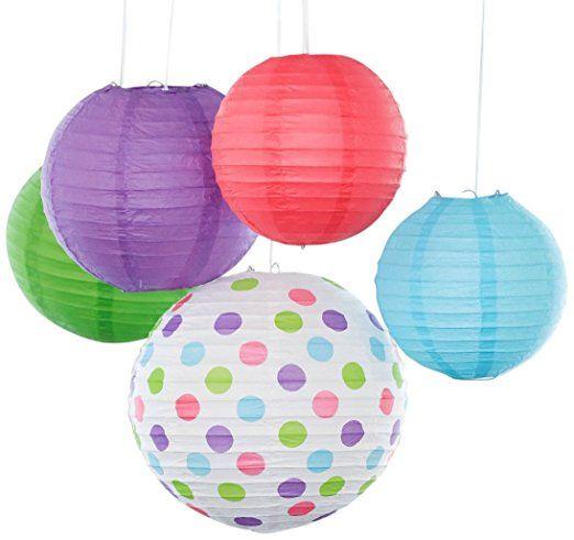 Lanterne di carta Bobee Forniture per Feste di Compleanno Decorazioni Camera da Letto Bambina, Pacchetto da 5
