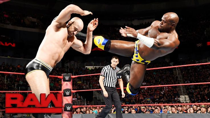The WWE Raw Tag Team Champions Cesaro and Sheamus continue to set THE BAR as they go toe-to-toe with Apollo Crews and Titus O'Neil!