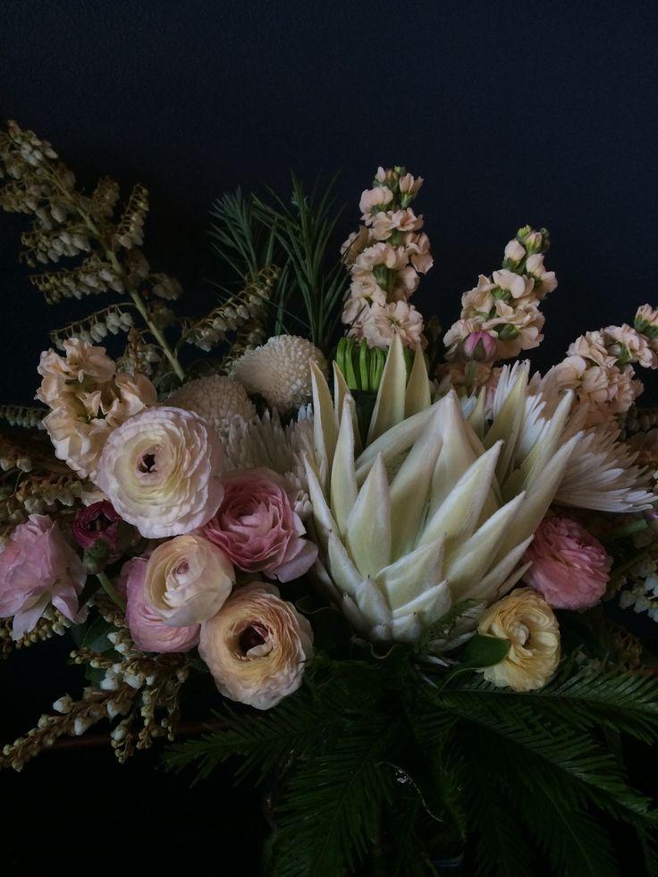 Soft and pretty with a majestic protea