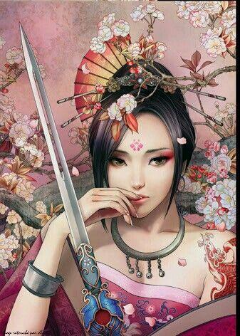 Samurai princess | Anime, Illustrazioni, Disegni, Pittura ...