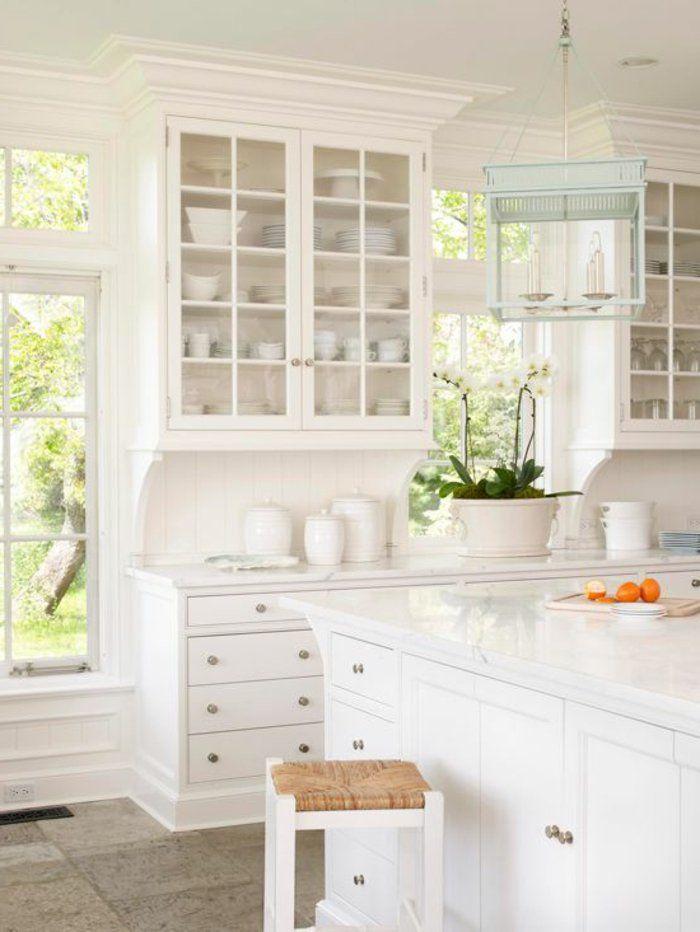 cuisine laquée blanche dans la cuisine moderne