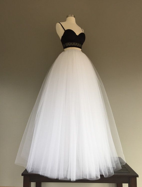 Floor length white tulle skirt- Perfect for bridal showers, rehearsal dinner, photo shoot or wedding ceremony! Available in many colors, see color chart or list below :)  Made with 4 layers of tulle solid pieced and fully sewn, no strips or knots. TAKING MEASUREMENTS: WAIST: measure your waist where you want your skirt to sit, either low, mid or high waist. LENGTH: measure from where you take your waist measurement down your backside to be sure your skirt will provide enough coverge.  COLORS…